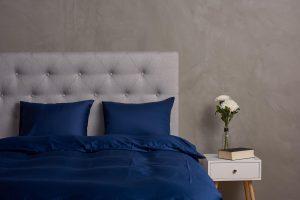 Sängkläder i marinblå